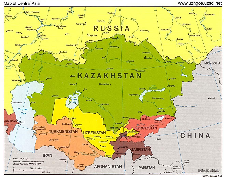 Kazahsztan Terkep Azsia Terkep Kazahsztan Terkep Azsia Kozep