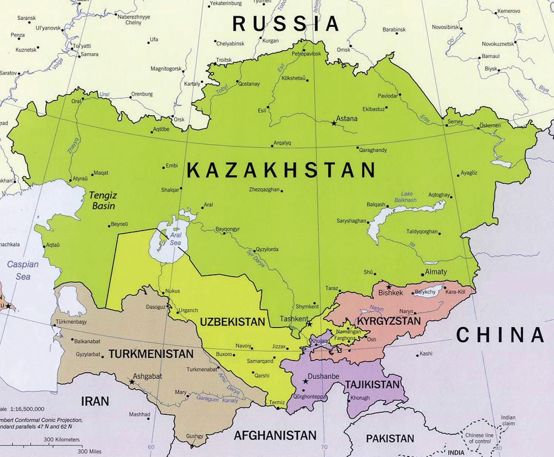 Tengiz Kazahsztan Terkep Terkep Tengiz Kazahsztan Kozep Azsia